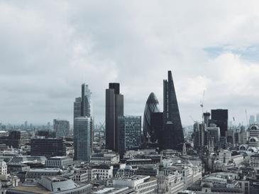 Cloudy London city