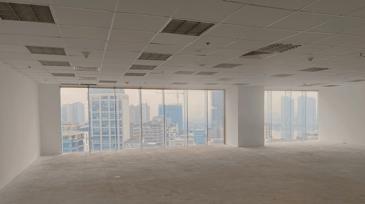 bright empty open plan office